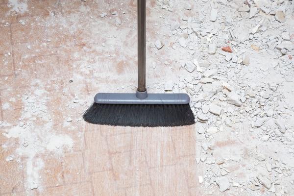Yrke: städning av byggplatser